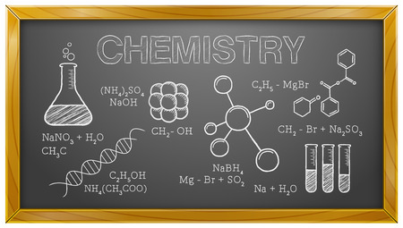 chemistry science: Chemistry, Science, Chemical Elements, Blackboard Illustration