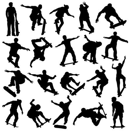 skaters: Skateboarding Silhouette, Skaters, Extreme Sport