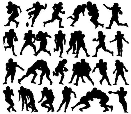 jugadores de futbol: Fútbol americano, deporte, atleta, Silueta