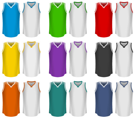 Basketball Jerseys, Basketball Uniform, Sport Ilustracja