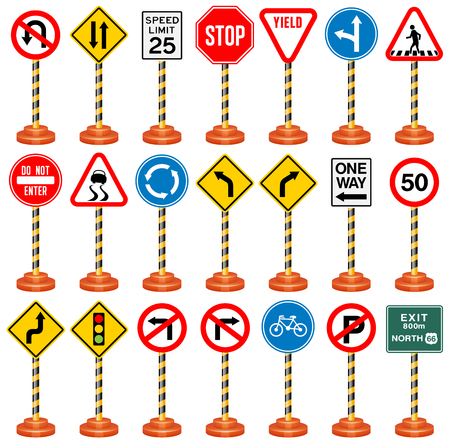 Road Signs, Traffic Signs, Transportation, Safety, Travel