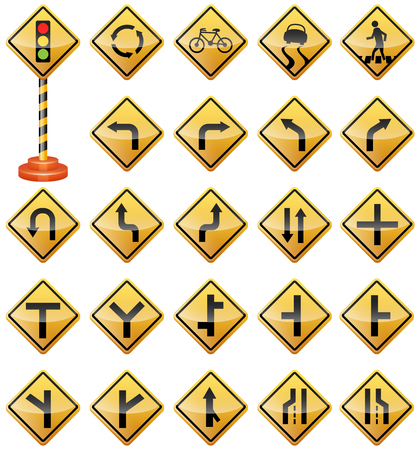Road Signs, Traffic Signs, Warning Signs, Transportation, Safety