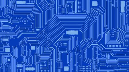 回路基板の背景、抽象的なコンピューター、技術