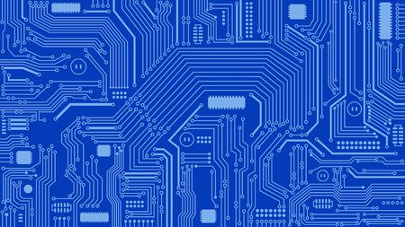 Circuit Board Background, Abstract, Computers, Technology Illustration