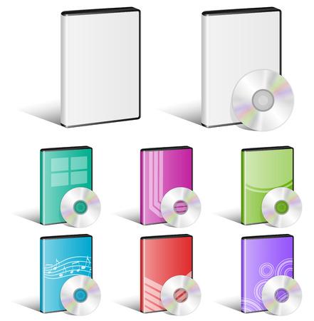 Software Disk, Video Disk, DVD, Cover Designs, CD Illustration