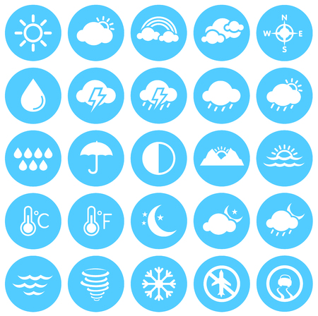 Weather Icons, Climate, Weather Forecast, Seasons Illustration
