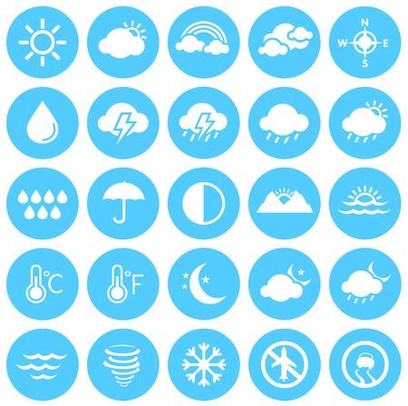 Weather Icons, Climate, Weather Forecast, Seasons Illustration
