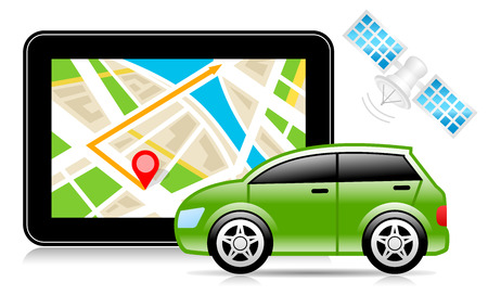 GPS, Global Positioning System, City Map, Navigation Illustration