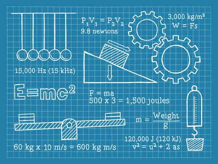 физика: Физика, Наука, школа, Blueprint Иллюстрация