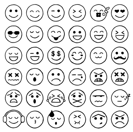 carita feliz caricatura: Smiley iconos, emoticonos, expresiones faciales, Internet