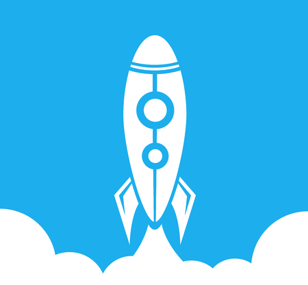 Rocket Launch, Aircraft, Space, Business Startup Illustration