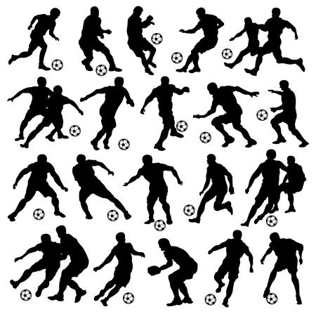 Soccer, Football, Sport, Athlete, Silhouette 向量圖像