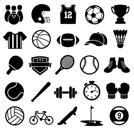 Sport Icons, Silhouette, Sports and Fitness