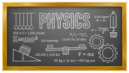 balanza de laboratorio: La física, ciencia, escuela, educación, Pizarra
