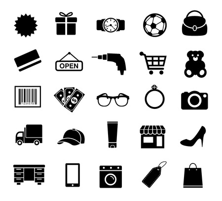 Shopping Icons, Business, Internet, E-commerce