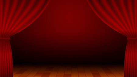 Red Curtain, Stage, Entertainment, Theater, Background