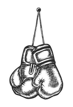 Guantes de boxeo, Deportes Ilustración de vector