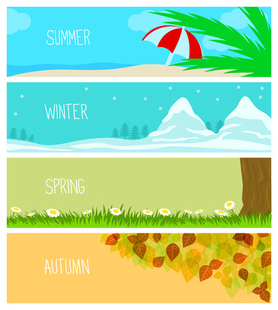 Seasons, Backgrounds, Summer, Winter, Spring, Autumn