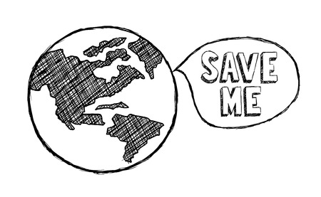 Save The Earth, Climate Change, Ecology, Environment Illustration