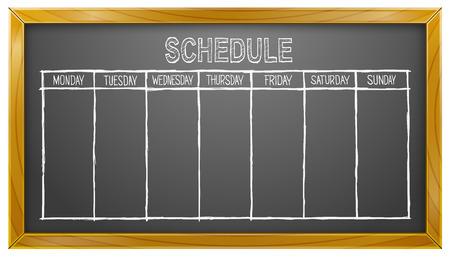 Schedule, Blackboard, Weekdays, Calendar, Business