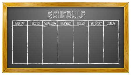 Schedule, Blackboard, Weekdays, Calendar, Business