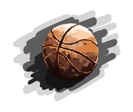 Ball, Basketball, Sport, Painting