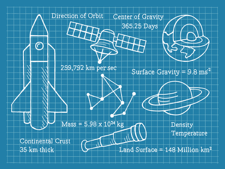 Astronomy, Science, School, Blueprint