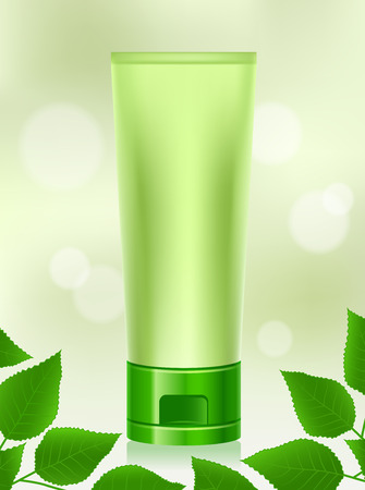 Natural Cosmetics, Organic, Makeup, Beauty Products, Leaves Illustration