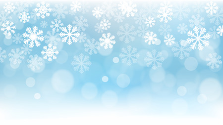 Christmas Background, Snowflakes, Wallpaper, Snow