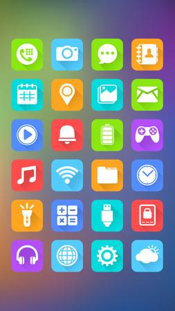 抽象的な背景、アイコン モバイル モバイル アプリケーション