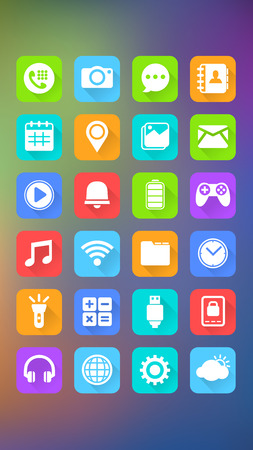 Mobile Icons, Abstract Background, Mobile Application