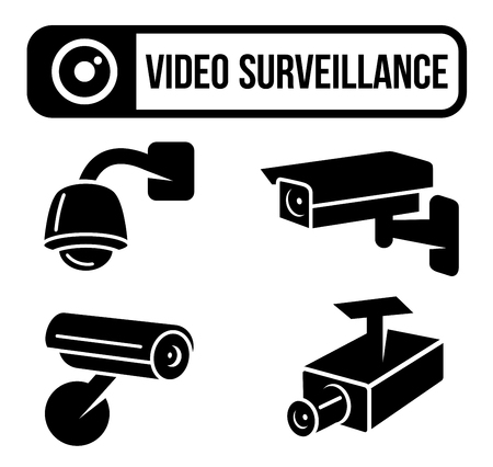 video surveillance: Video Surveillance, CCTV, Security, Spy Camera Illustration