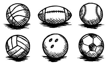 Balls Doodle, Sports, Team Sport, Sketch