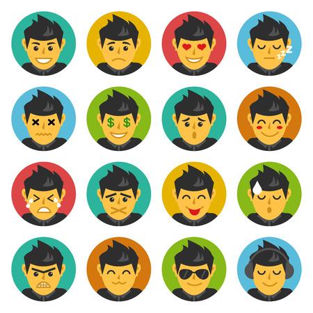 Cute Character, Facial Expressions, Emoticons, Emoji