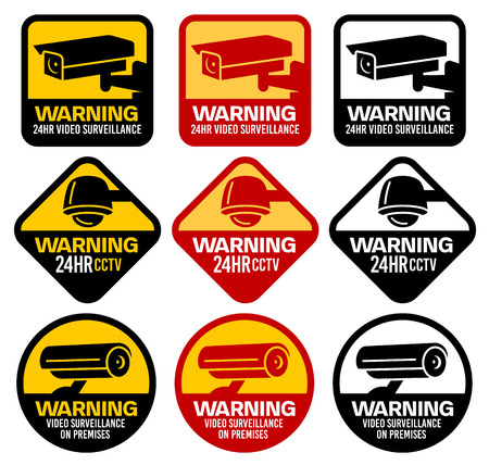 Video Surveillance, CCTV Signs, Security, Spy Camera