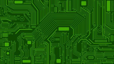 緑基板背景、コンピューター、技術