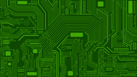 Green Circuit Board Background, Computers, Technology