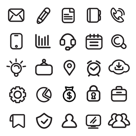 Icons, Business, Modern, Design Elements
