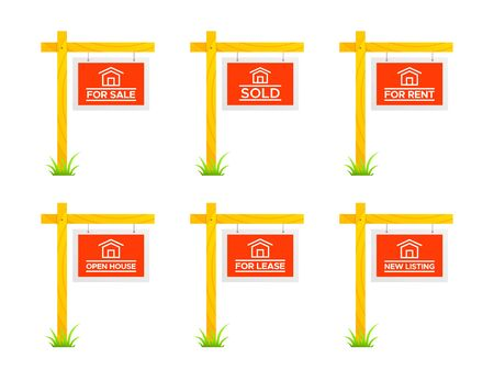 Real Estate Sign Posts, Property, Business