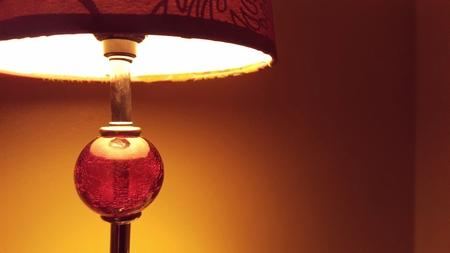 Retro-stijl tafellamp Stockfoto