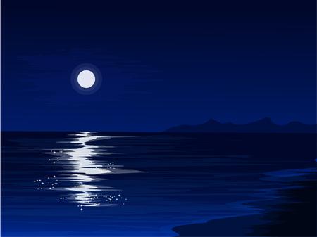 ruhige Nacht am Strand