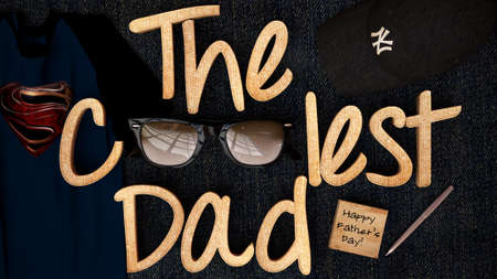 photo realism: The Coolest Dad Happy Fathers Day