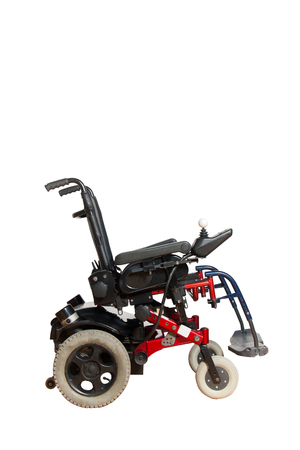 motor wheelchair for disposable people isolated