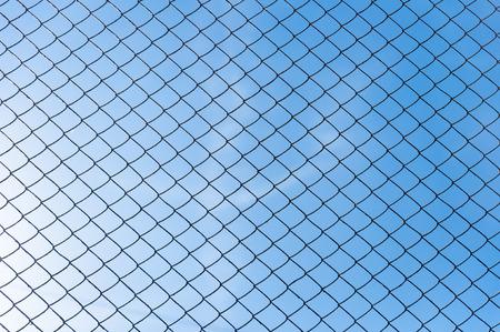netting: Blue sky through netting