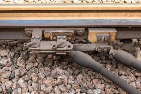 United Kingdom Railway Manually Operated Hook Switch for isolating the conductor rail