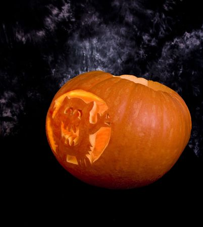 Large carved pumpkin