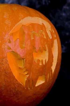 Giant halloween pumpkin Imagens