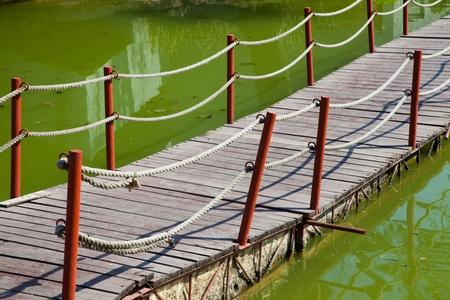 Floating footbridge