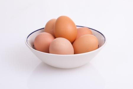 Bowl of eggs Imagens