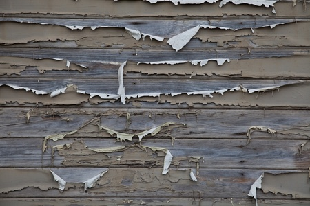 Flaking painted wood